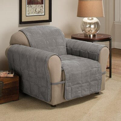 Box Cushion Armchair Slipcover Size: 98.5 H x 164 W, Upholstery: Gray