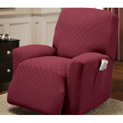 Box Cushion Recliner Slipcover Upholstery: Brick