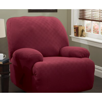 Jumbo T-Cushion Recliner Slipcover Upholstery: Brick