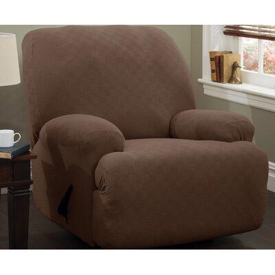 Jumbo T-Cushion Recliner Slipcover Upholstery: Cocoa