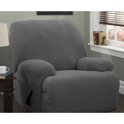 Jumbo T-Cushion Recliner Slipcover Upholstery: Gray