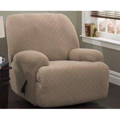 Jumbo T-Cushion Recliner Slipcover Upholstery: Wheat