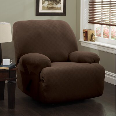Jumbo T-Cushion Recliner Slipcover Upholstery: Chocolate