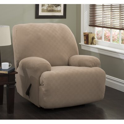 Jumbo T-Cushion Recliner Slipcover Upholstery: Wheat