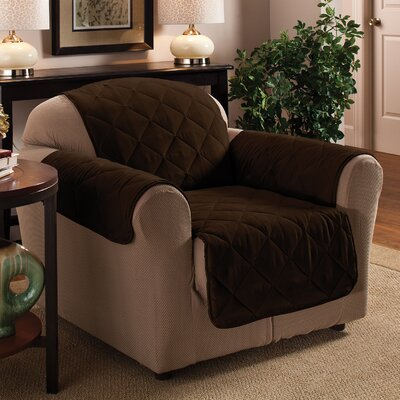 Pet Club Chair Cover Upholstery: Chocolate
