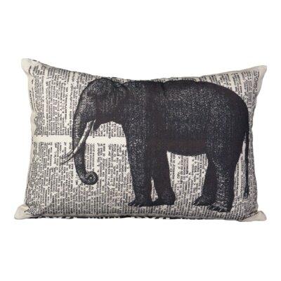 Huitt Elephant Cotton Lumbar Pillow