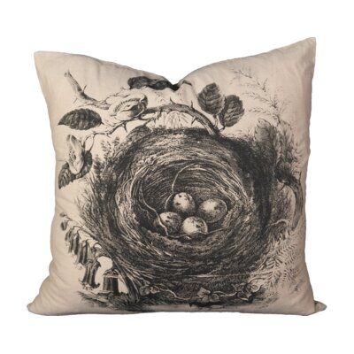 Veliz Eggs Nest Cotton Throw Pillow