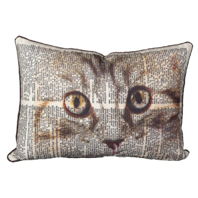 Huguley Cat Eye Cotton Lumbar Pillow