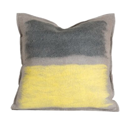 Delvalle Stone Wool Throw Pillow