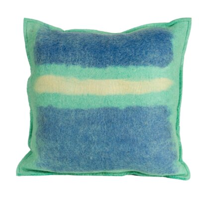 Deblois Kiwi Wool Throw Pillow Color: Seaside, Size: 20 H x 20 W