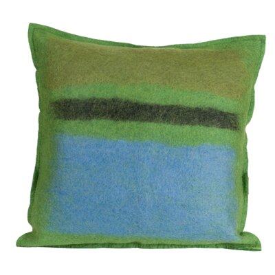 Deblois Kiwi Wool Throw Pillow Color: Kiwi, Size: 18 H x 18 W