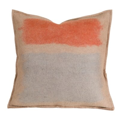 Debellis Wool Throw Pillow Color: Taupe, Size: 20 H x 20 W