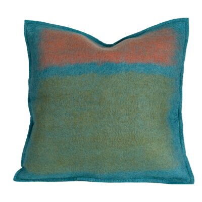Debellis Wool Throw Pillow Color: Iris, Size: 18 H x 18 W