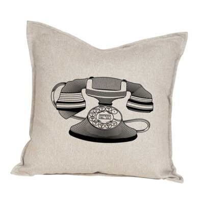 Hendren Telephone Cotton Throw Pillow