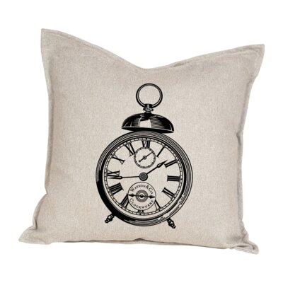 Hempel Clock Cotton Throw Pillow