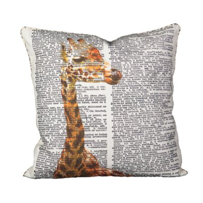 Huizenga Giraffe Cotton Throw Pillow