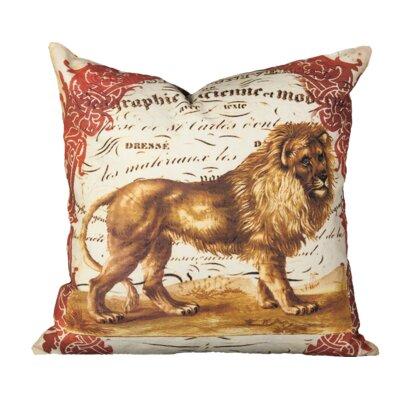 Keefe Lion Cotton Throw Pillow