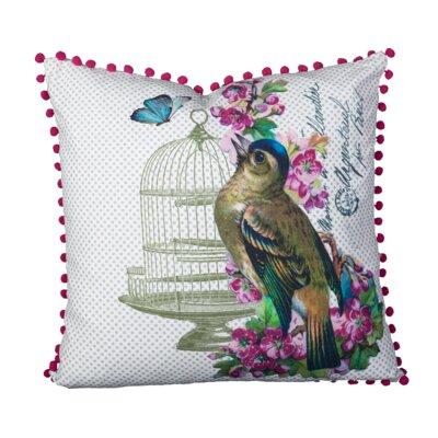 Veloz Birdcage Cotton Throw Pillow