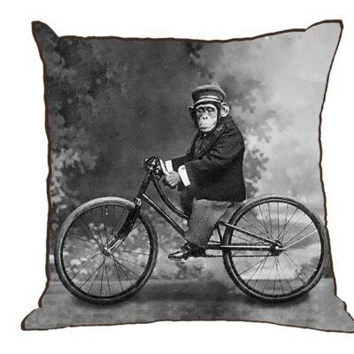 Mystic Monkey Cotton Throw Pillow