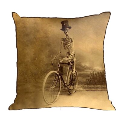 Henfield Skeleton Cotton Throw Pillow