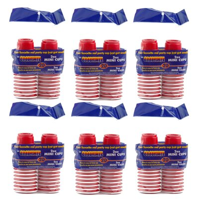 Goodtimes 2 Oz. Mini Party Cup (6 Packs) GTB01403