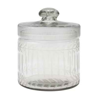 Stonebriar Clear Cut Glass Trinket Box
