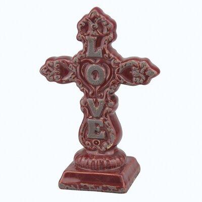 Stonebriar Love Ceramic Cross Pedestal