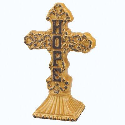 Stonebriar Hope Ceramic Cross Pedestal