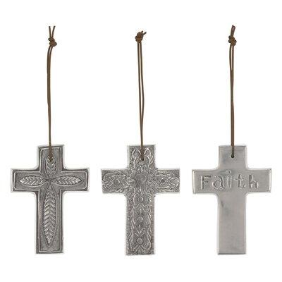 "3 Piece Stonebriar 4.5"" Aluminum Hanging Cross Set"