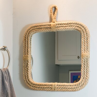 Stonebriar Rope Rectangle Mirror With Loop Hanger