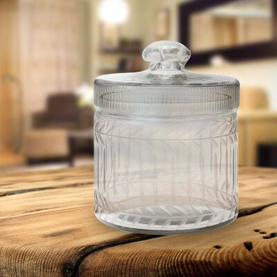 Stonebriar Clear Cut Glass Trinket Box