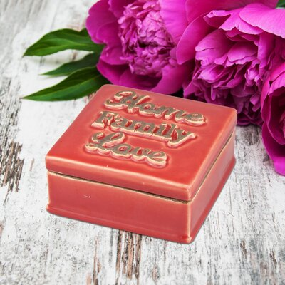 Stonebriar Ceramic Home Family Love Decorative Box SB-6124A