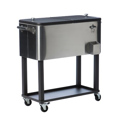 80 Qt. Stainless Steel Rolling Cooler with Cover TXK-0806