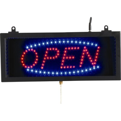 High Visibility LED Sign Sign Message: Open, Size: 13 H x 22 W