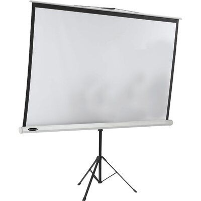 Matte White Portable Projection Screen Viewing Area: 84 H x 84 W