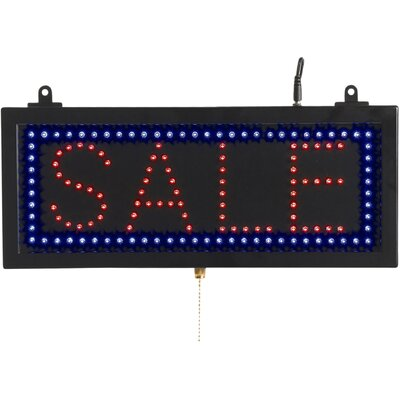 High Visibility LED Sign Sign Message: Sale, Size: 6 .75 H x 16.125 W