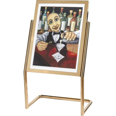 Menu And Poster Holder Color: Brass