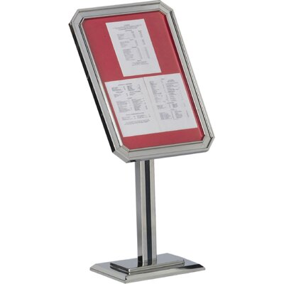 Single Pedestal Ornamental Sign and Poster Stand Color: Chrome