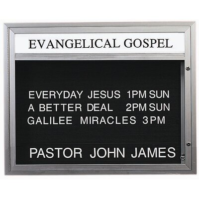 Single Sided Illuminated Community Board Size: 36 H x 47 W, Frame Color: Earth Brown Powder Coated