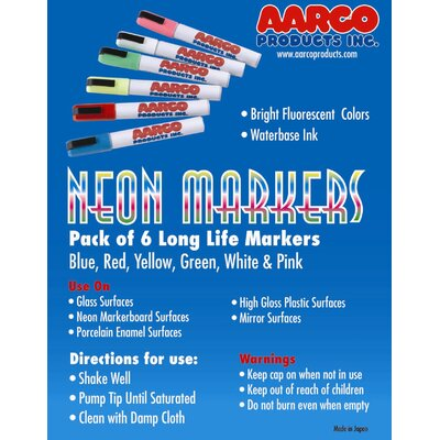 Neon Dry Erase Makers MFL-6