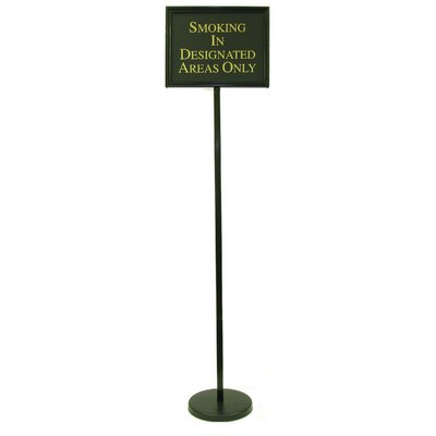 Director Changeable Sign Size: 59 H x 15 W x 0.25 D, Finish: Black