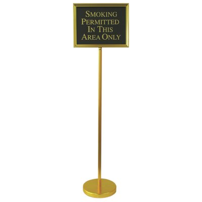 Director Changeable Sign Size: 54 H x 15 W x 0.25 D, Finish: Gold