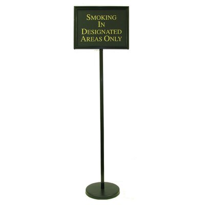 Director Changeable Sign Size: 54 H x 15 W x 0.25 D, Finish: Black