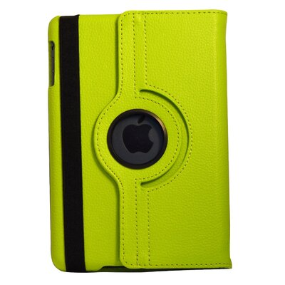 Bargain Tablet Parts iPad Mini Synthetic Leather Rotating Case - Color: Green at Sears.com