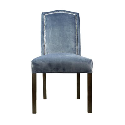 Kacey Star Parsons Chair Upholstery: Steel Blue