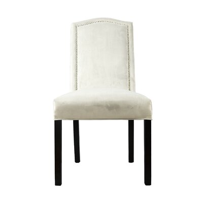 Kacey Star Parsons Chair Upholstery: Pearl White