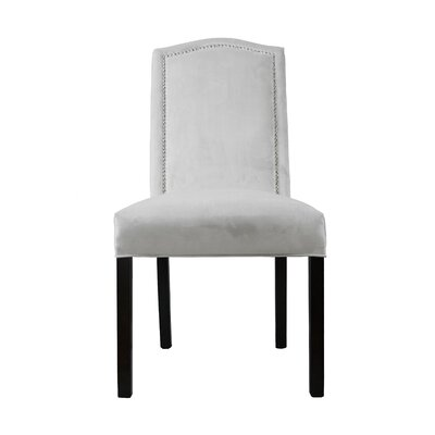 Kacey Star Parsons Chair Upholstery: Smoke - off White