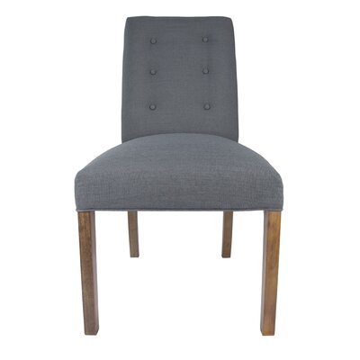 Kacey Side Chair Upholstery: Charcoal