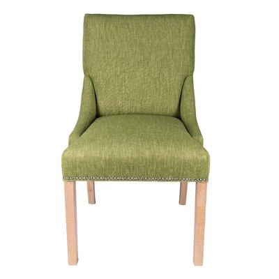 Maire Parsons Chair Finish: White, Upholstery: Grass
