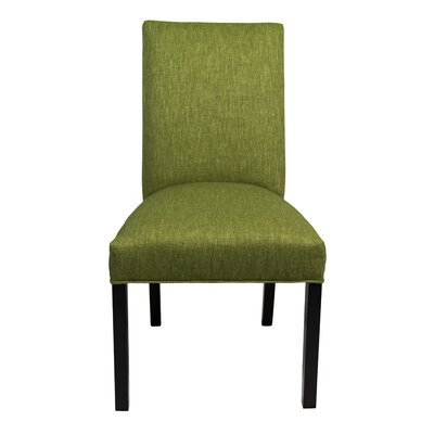 Parsons Chair Finish: Espresso, Upholstery: Grass